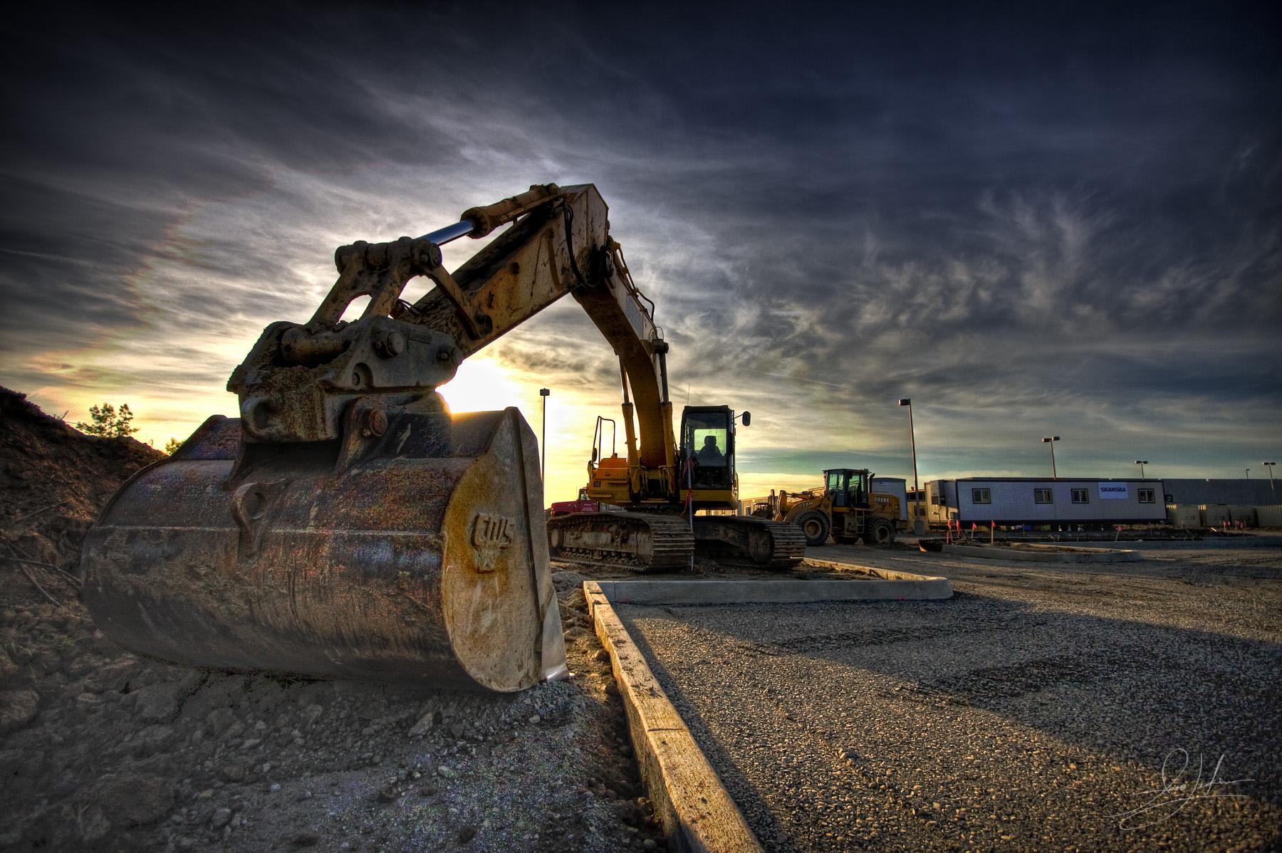 Construction equipment job site